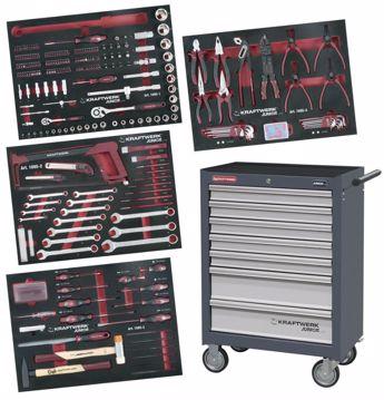 Immagine di Carrello porta utensili, 7 cassetti con interni EVA da 339 pezzi 1095 KRAFTWERK + Chiave dinamometrica 3235 in omaggio